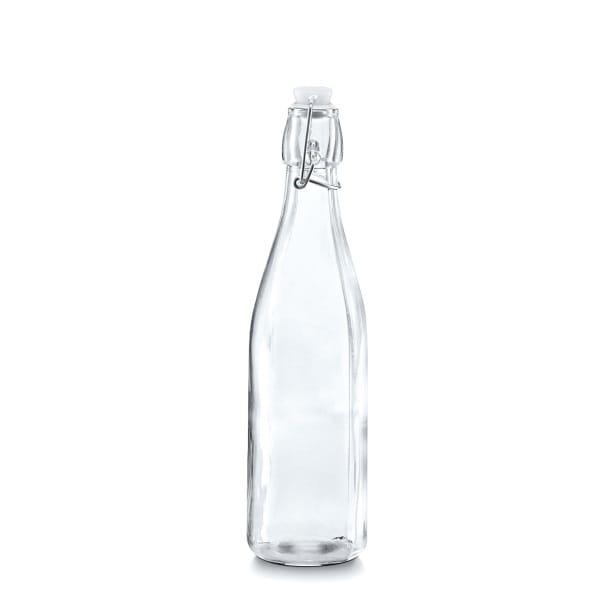 glasflasche mit b gelverschluss glas metall kunststoff 500 ml m bel boss. Black Bedroom Furniture Sets. Home Design Ideas