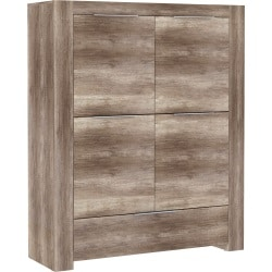 Highboard Cancas Plus Eiche antik Nachbildung ca. 134 x 159,9 x 44,2 cm