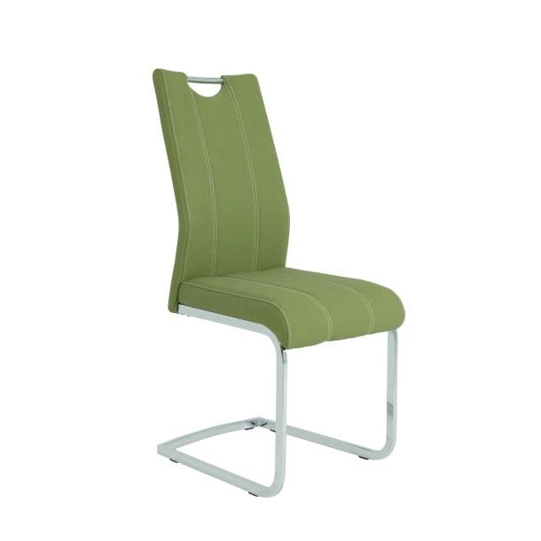Stuhl Carlotta Kunstleder Oliv ca. 47 cm