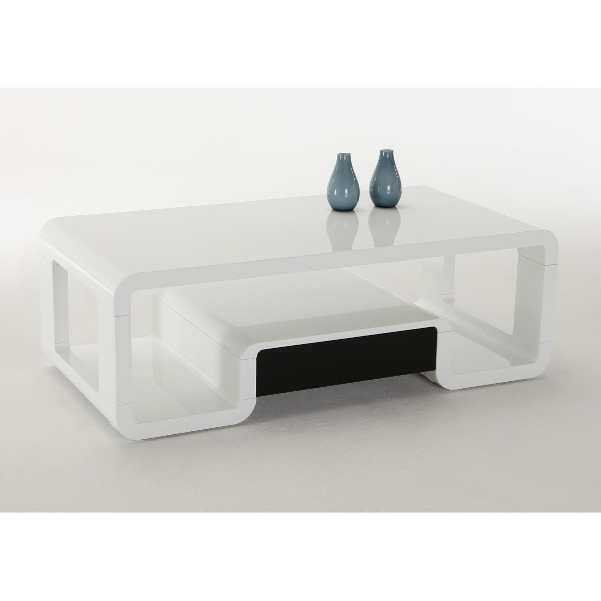 couchtisch nico wei mdf hochglanz ca 120x40x60 cm couchtische beistelltische wohnen. Black Bedroom Furniture Sets. Home Design Ideas