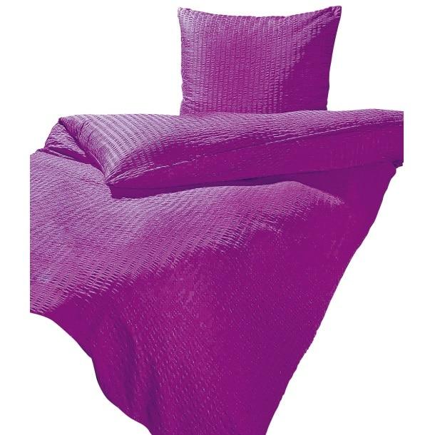 Microfaser Seersucker Bettwäsche Violett ca. 135x200 cm