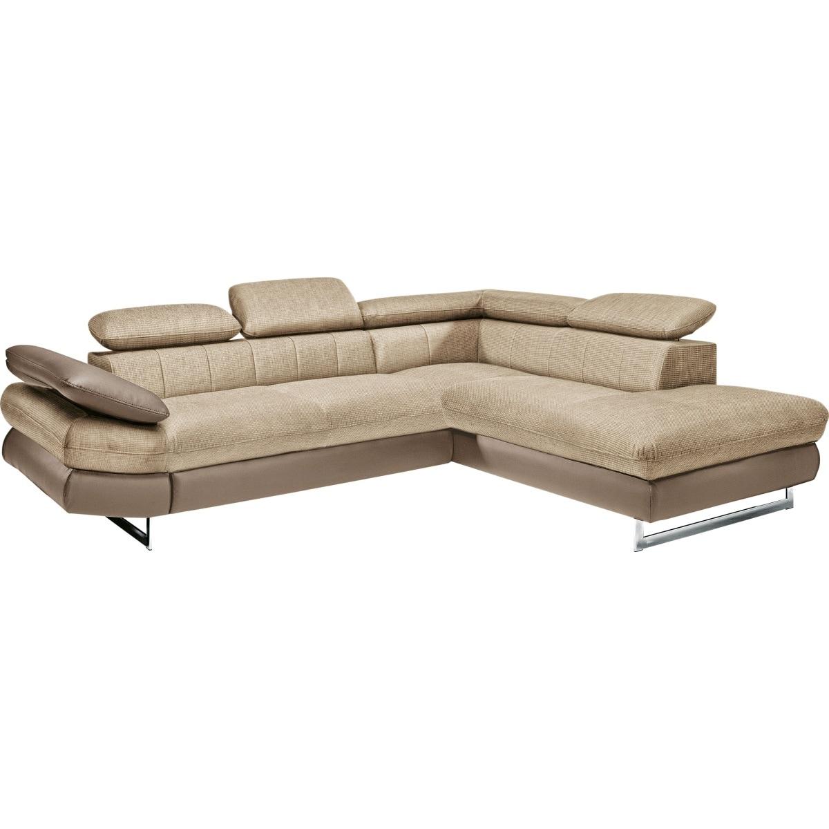 polsterecke beige braun eckgarnituren polsterm bel wohnen m bel boss. Black Bedroom Furniture Sets. Home Design Ideas