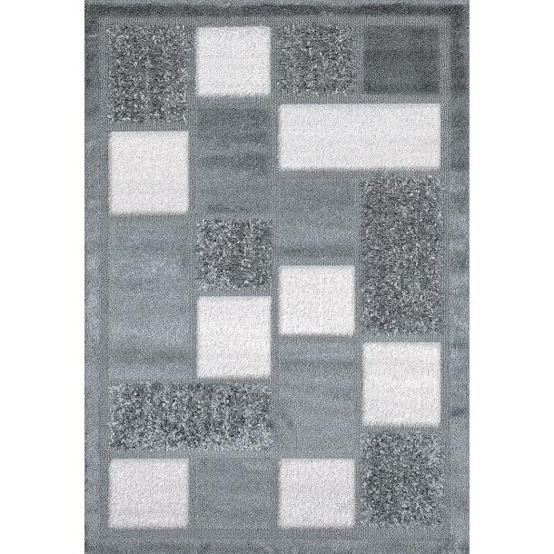 Streifenberber Fashion Silber 120 x 170