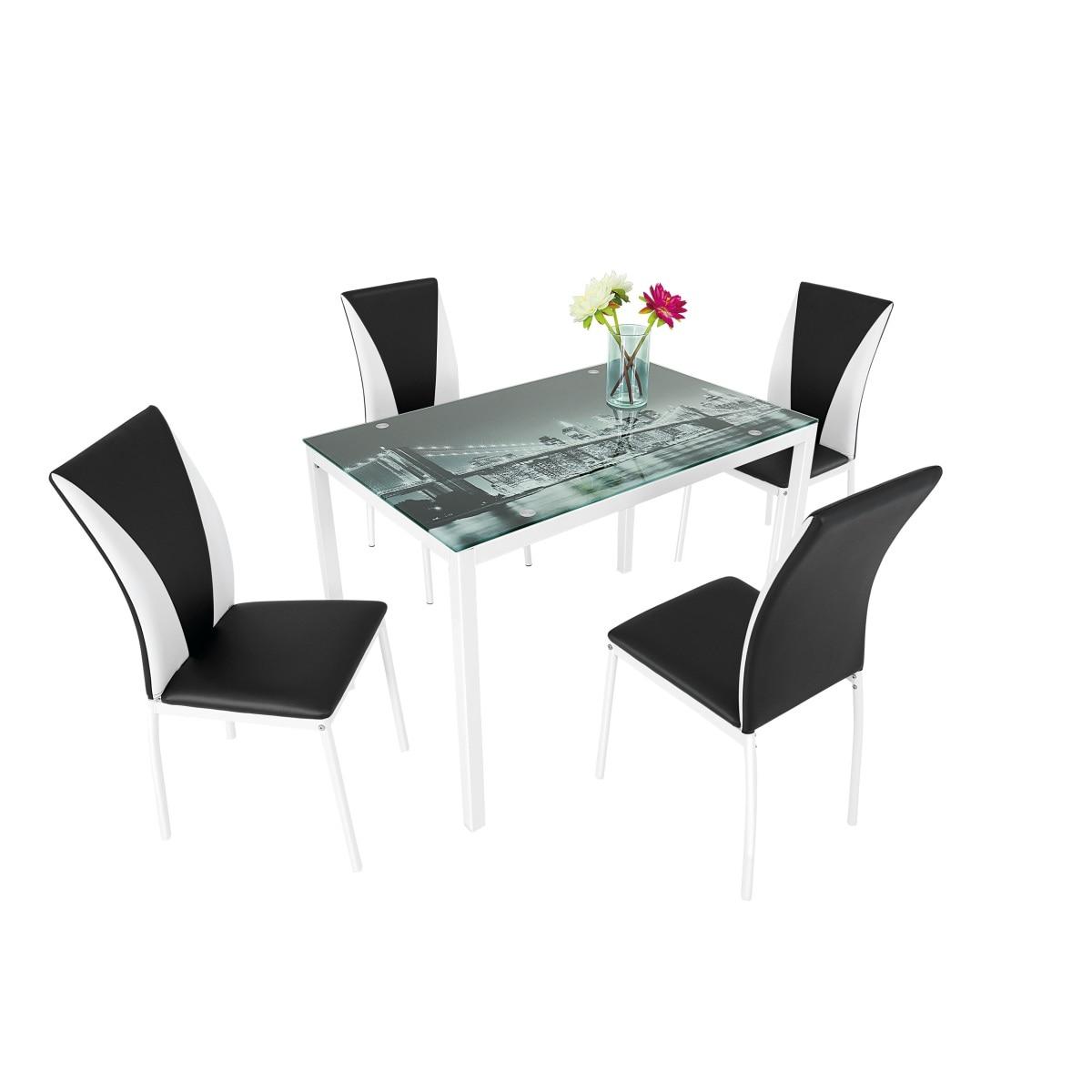 tischgruppe 5tlg m bel boss moebel. Black Bedroom Furniture Sets. Home Design Ideas