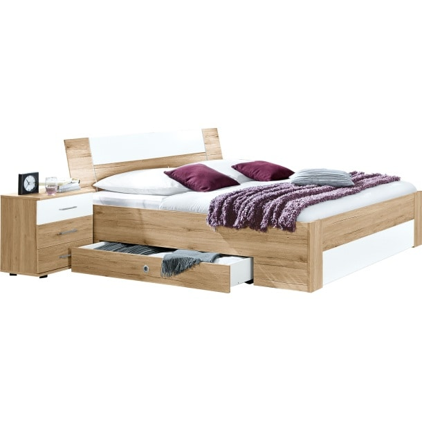 bett san remo eiche wei betten schlafen m bel boss. Black Bedroom Furniture Sets. Home Design Ideas