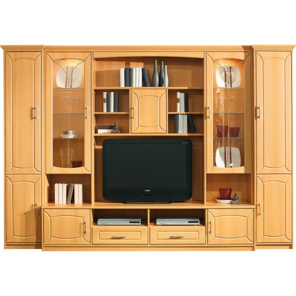 wohnwand buche catlitterplus. Black Bedroom Furniture Sets. Home Design Ideas