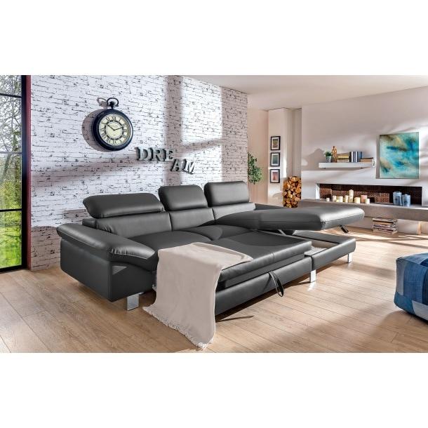 sitzecke leder schwarz polstergarnitur polsterm bel. Black Bedroom Furniture Sets. Home Design Ideas