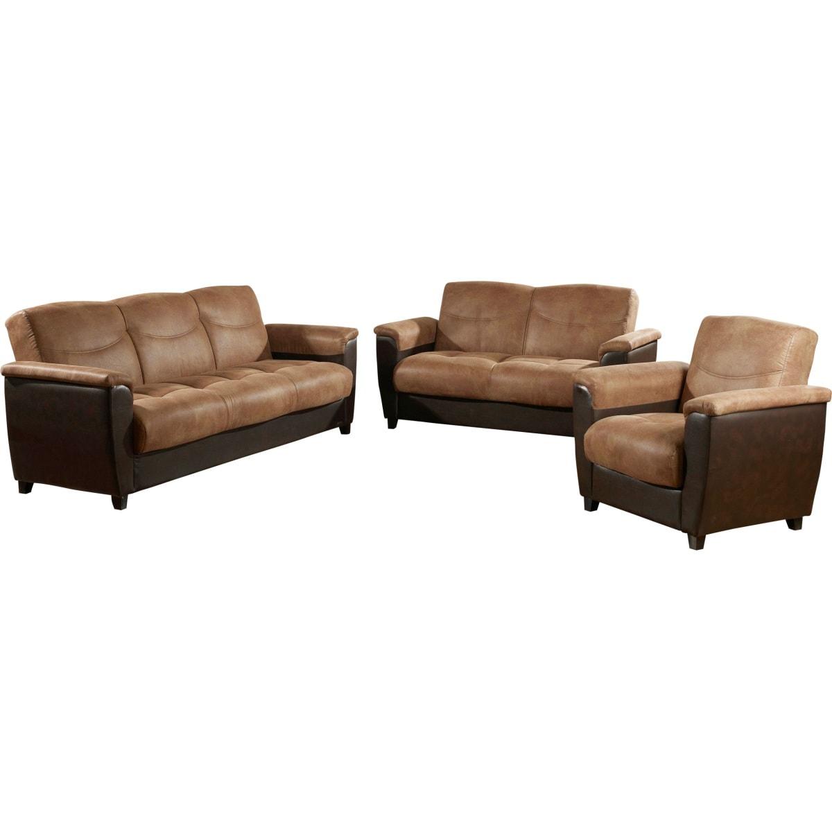 garnitur braun polsterm bel wohnen m bel boss. Black Bedroom Furniture Sets. Home Design Ideas