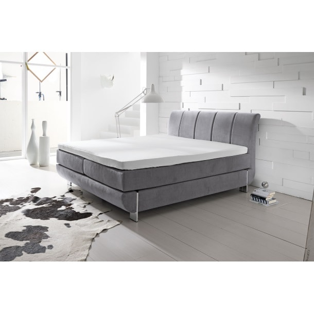 boxspringbett teneriffa stoff grau ca 180 x 200 cm m bel boss. Black Bedroom Furniture Sets. Home Design Ideas