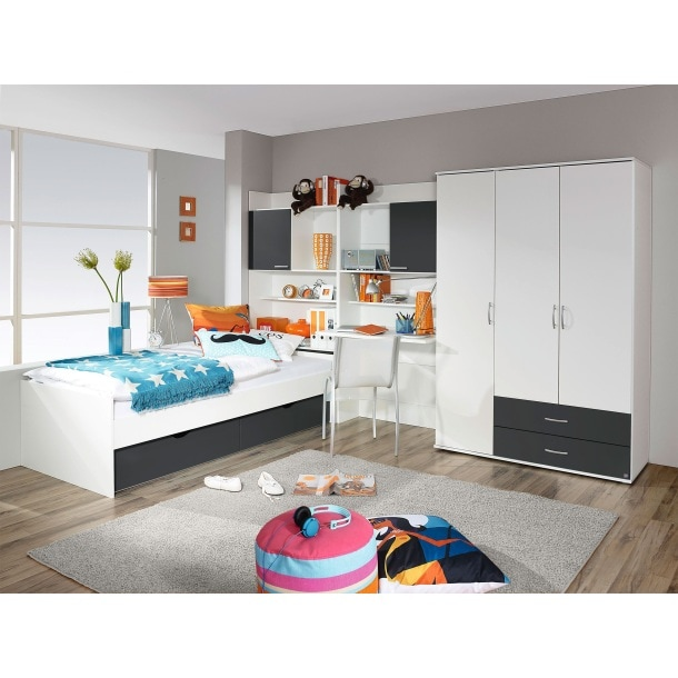 jugendzimmer alpinwei grau kinder jugendzimmer kinder m bel boss. Black Bedroom Furniture Sets. Home Design Ideas