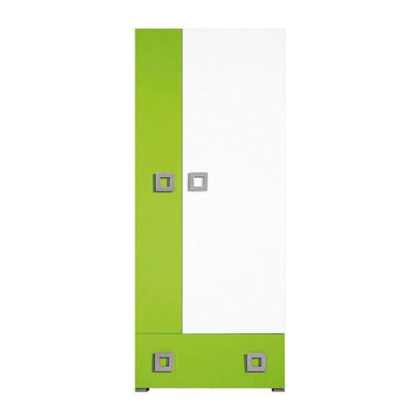 Kleiderschrank Labyrinth Grün/Creme Nachbildung ca. 80 x 197 x 52 cm ...