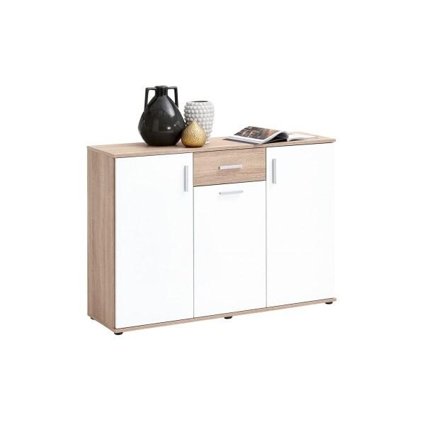 Kommode Albi Eiche Nachbildung/Weiß ca. 120,5 x 83 x 35 cm