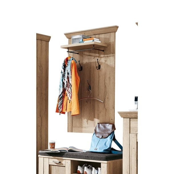 garderobenpaneel bristol grand oak ca 78 x 130 x 30 cm m bel boss. Black Bedroom Furniture Sets. Home Design Ideas
