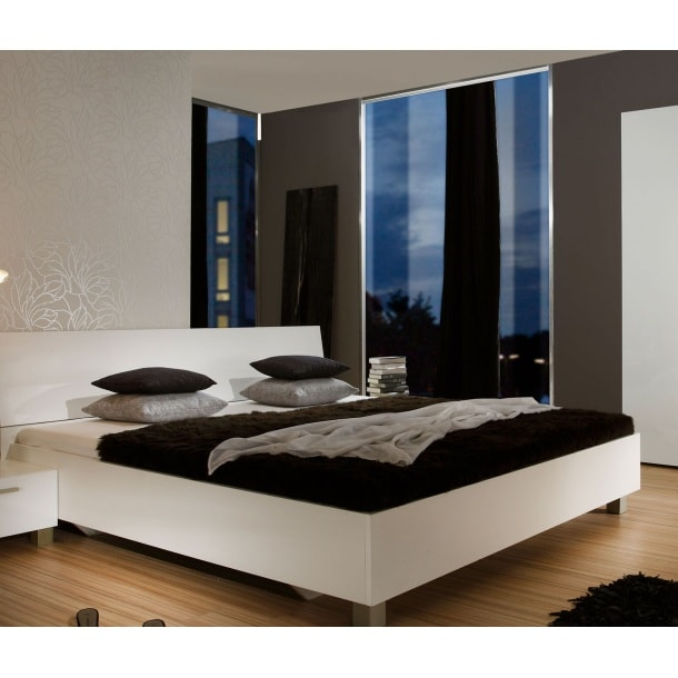 bett wei hochglanz wei betten schlafen m bel boss. Black Bedroom Furniture Sets. Home Design Ideas