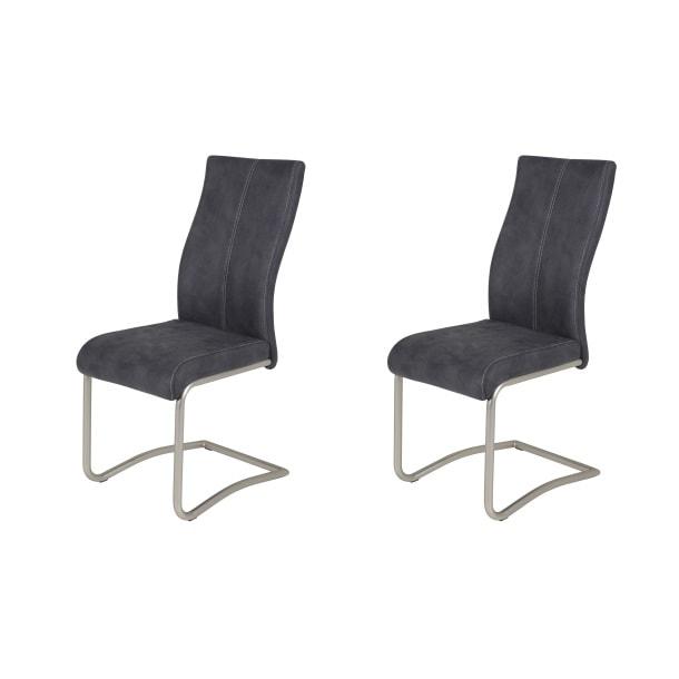 schwingstuhl anthrazit ca 43x100x61 cm carta brand. Black Bedroom Furniture Sets. Home Design Ideas