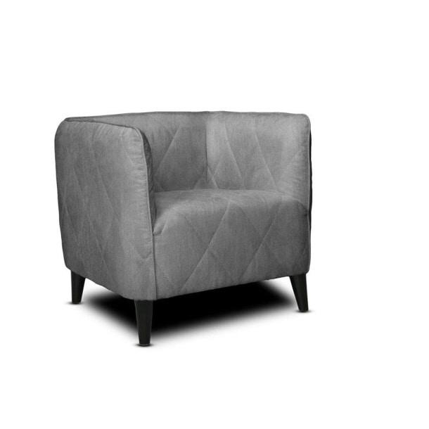 Sessel Tabac II Kunstleder Grau ca. 75 x 68 x 72 cm