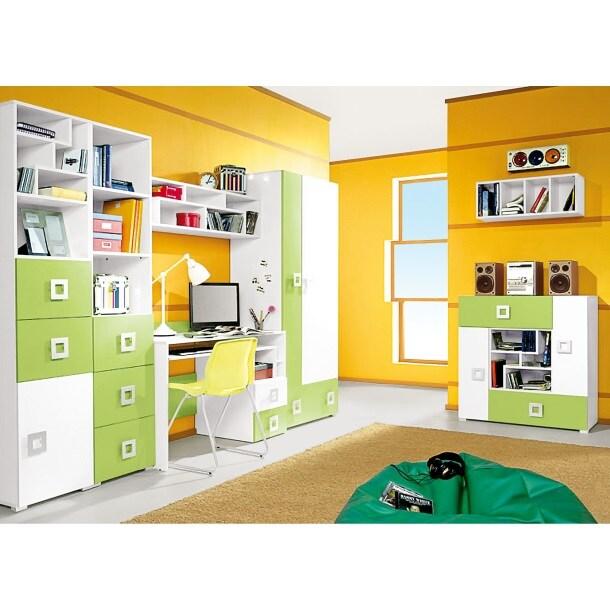 schreibtisch labyrinth gr n creme ca 125 x 85 x 55 cm m bel boss. Black Bedroom Furniture Sets. Home Design Ideas