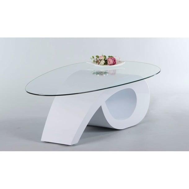 couchtisch walker tischplatte klarglas wei hochglanz ca 120 x 41 x 70 cm m bel boss. Black Bedroom Furniture Sets. Home Design Ideas
