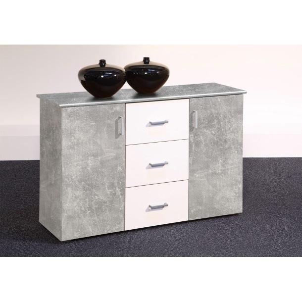 sideboard lift wei beton nachbildung ca 116 x 78 x 38 cm m bel boss. Black Bedroom Furniture Sets. Home Design Ideas